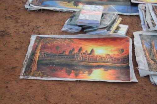 Vergessen Sie nicht, ein Souvenir aus Angkor Wat mitzunehmen!