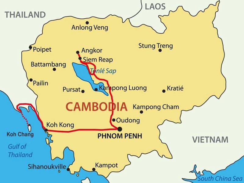 Angkor Wat Karte.Phnom Penh Top 10 Sehenswürdigkeiten Hauptstadt Kambodschas